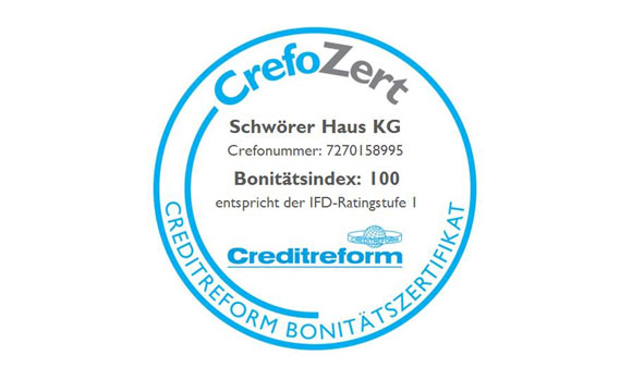 Crefo confirms creditworthiness structure at SchwörerHaus