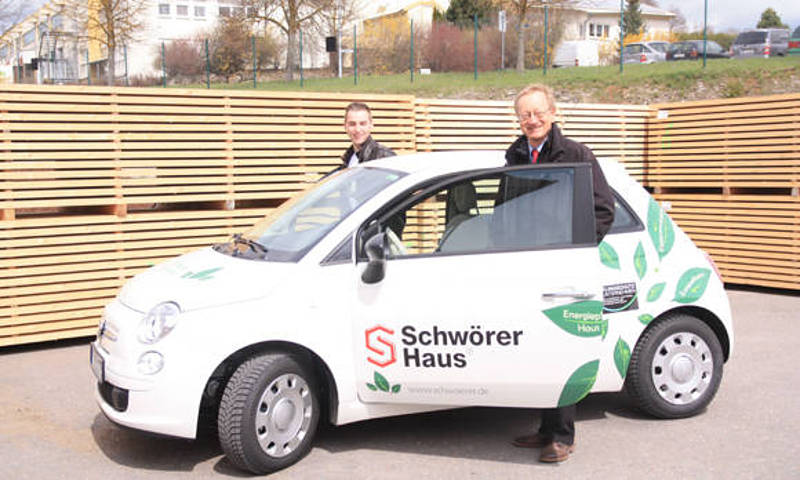 First Schwörer electric car