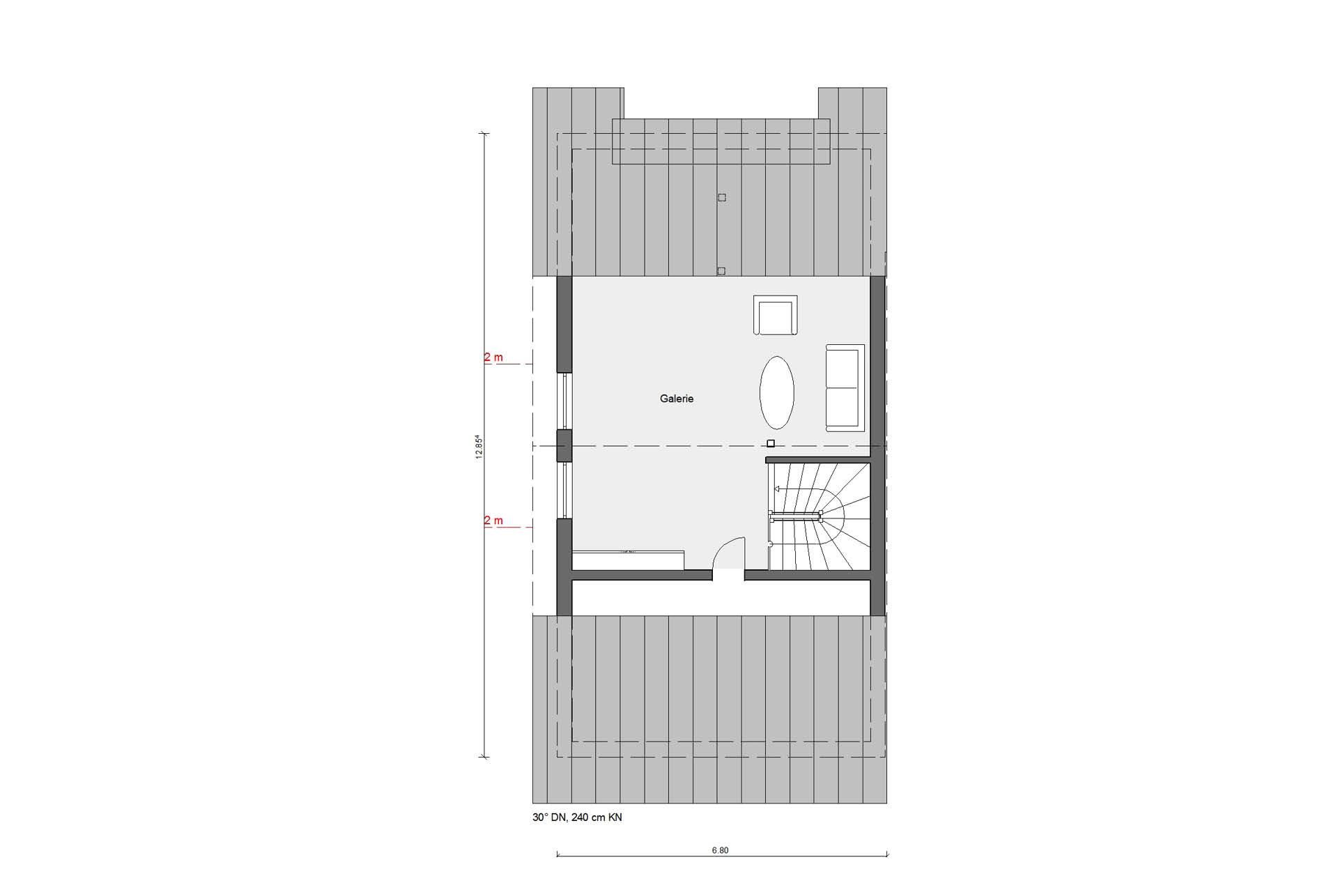 Floor plan attic D 15-216.1 terraced house