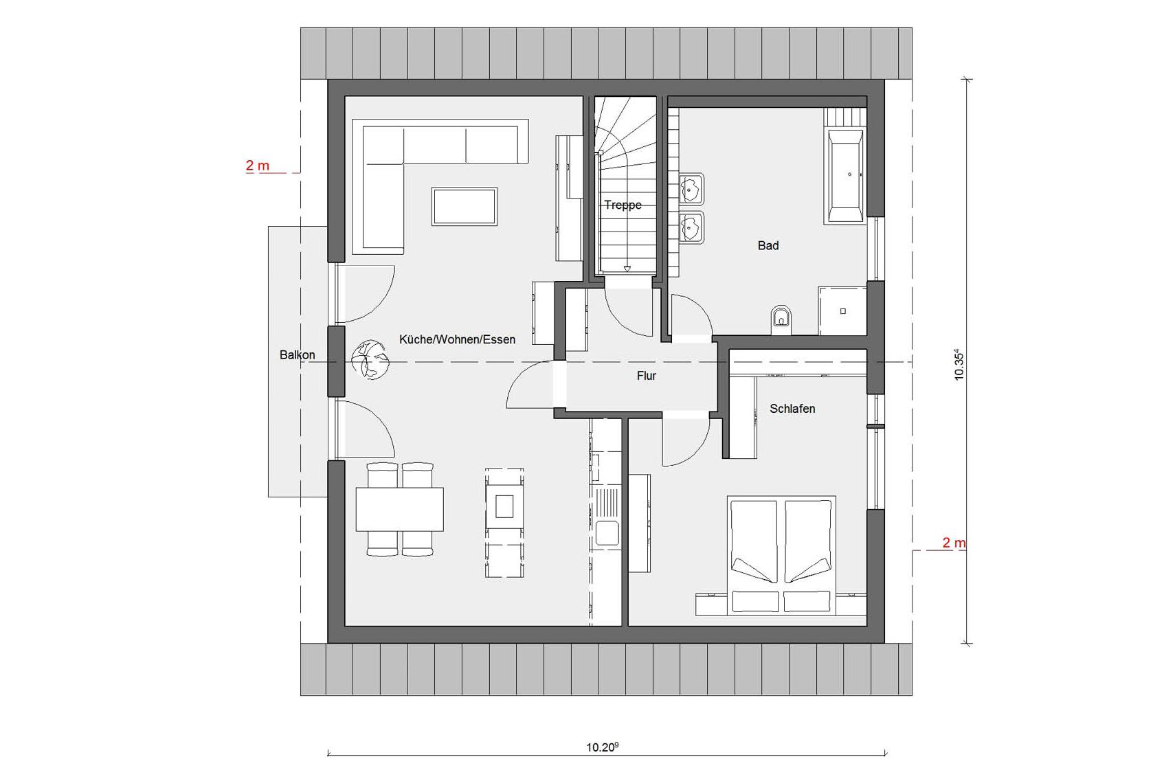 Floor plan penthouse M 15-179.2 Detached house with studio flat