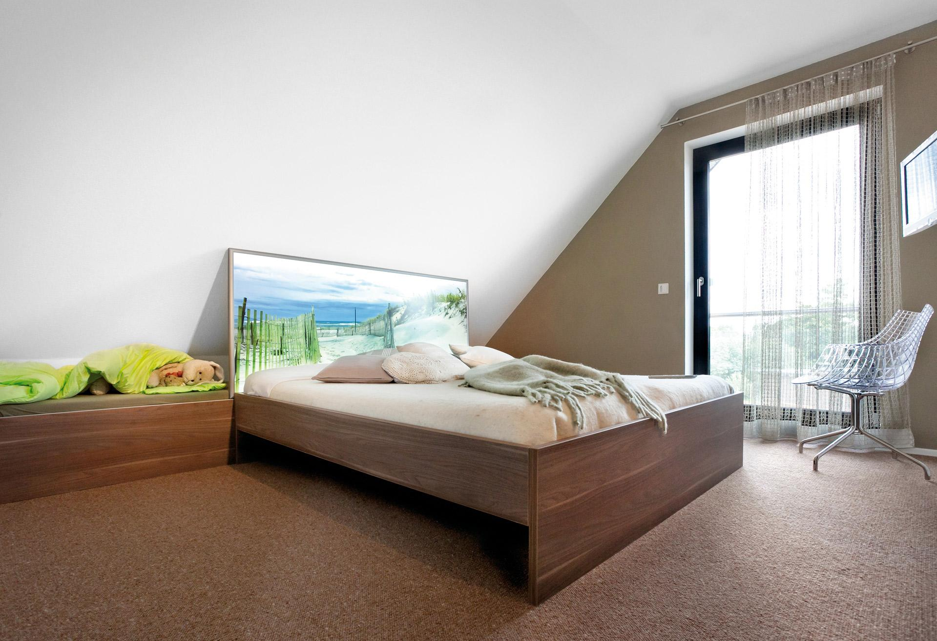 Bedroom with modern bed
