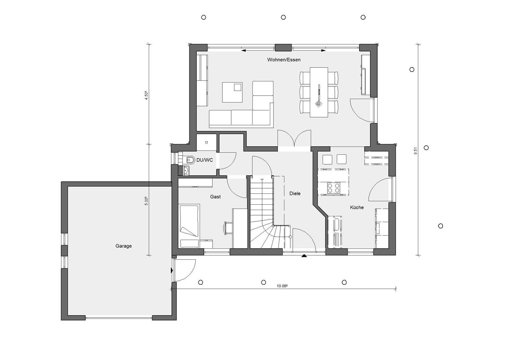 Floor plan ground floor Young Family Home E 15-146.3