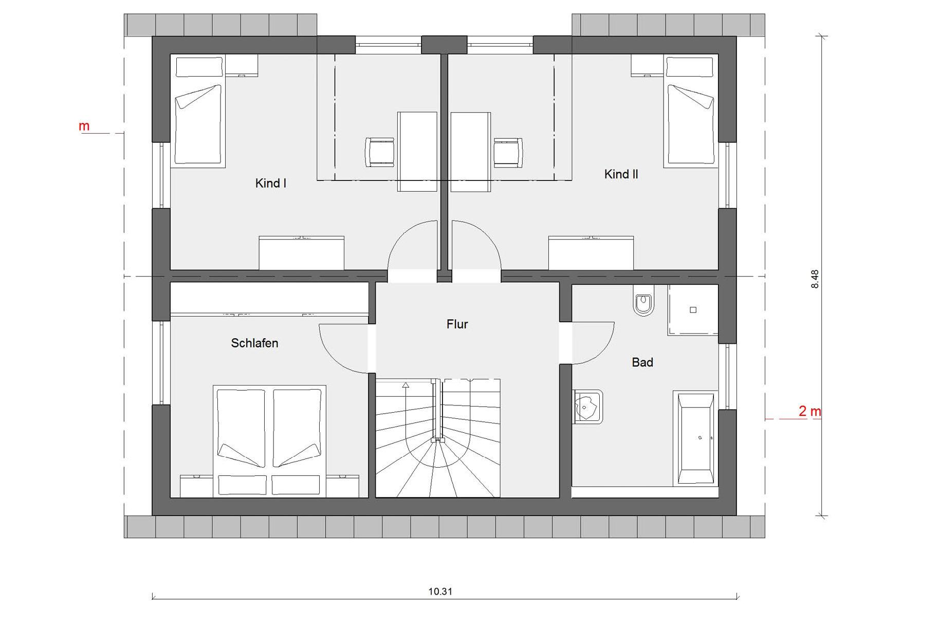 Ground floor attic E 15-143.15 House with flat roof dormer