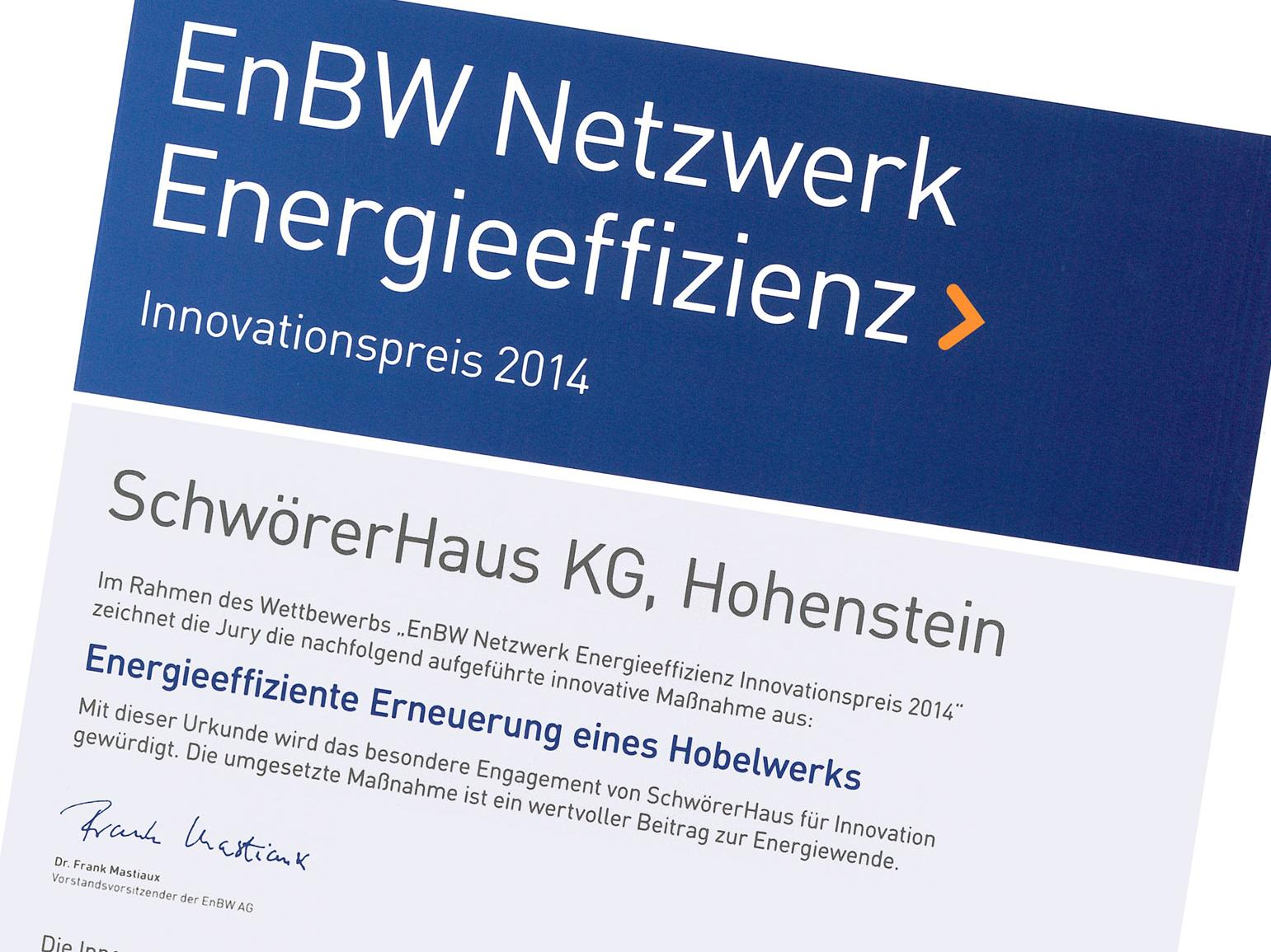 Premio per l'innovazione di EnBW Network Energy Efficiency
