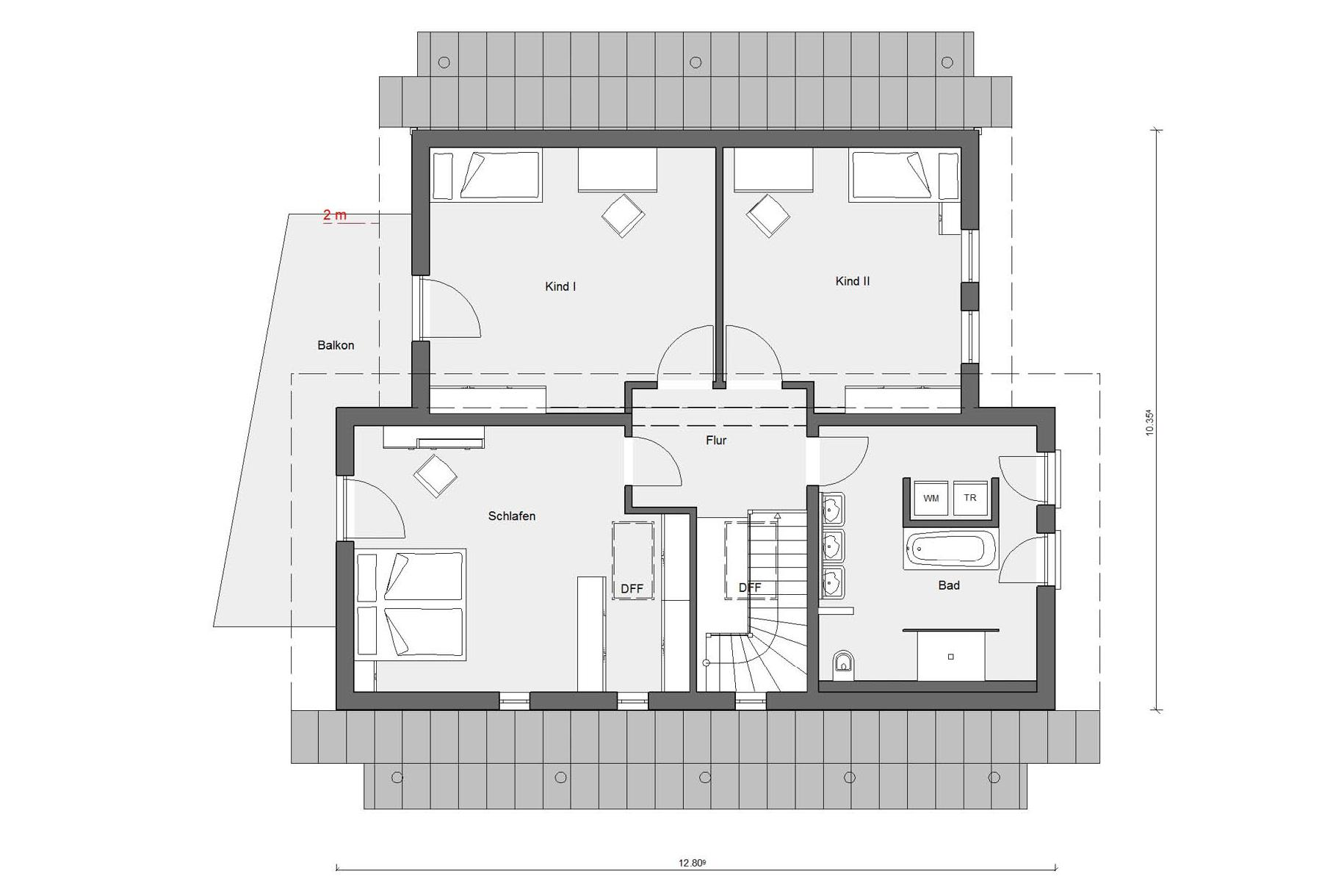 Pianta soffitta E 15-199.1 Youg Family Home 2