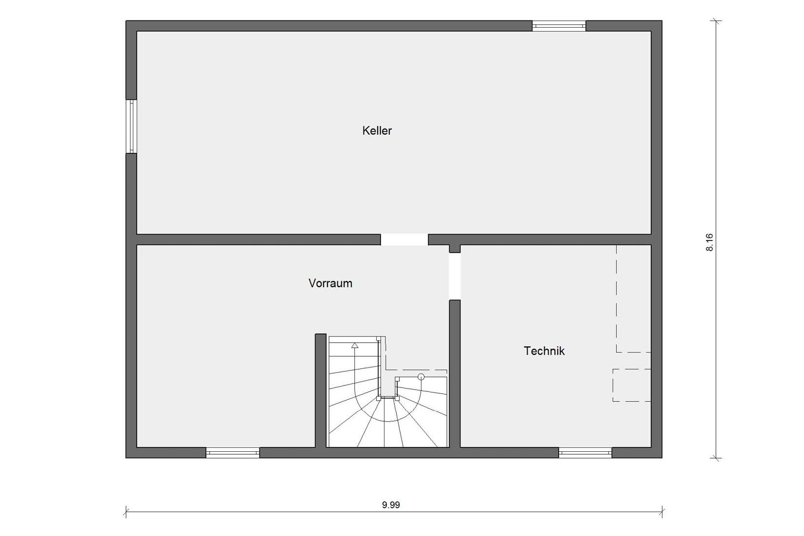 floor plan basement E 15-143.15 House with flat roof dormer