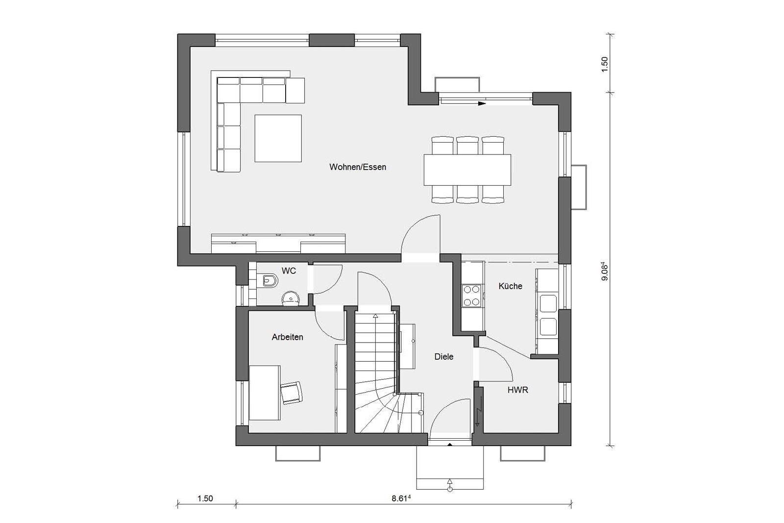 Maison Cubique Epuree Avec Annexe Moderne Schworerhaus