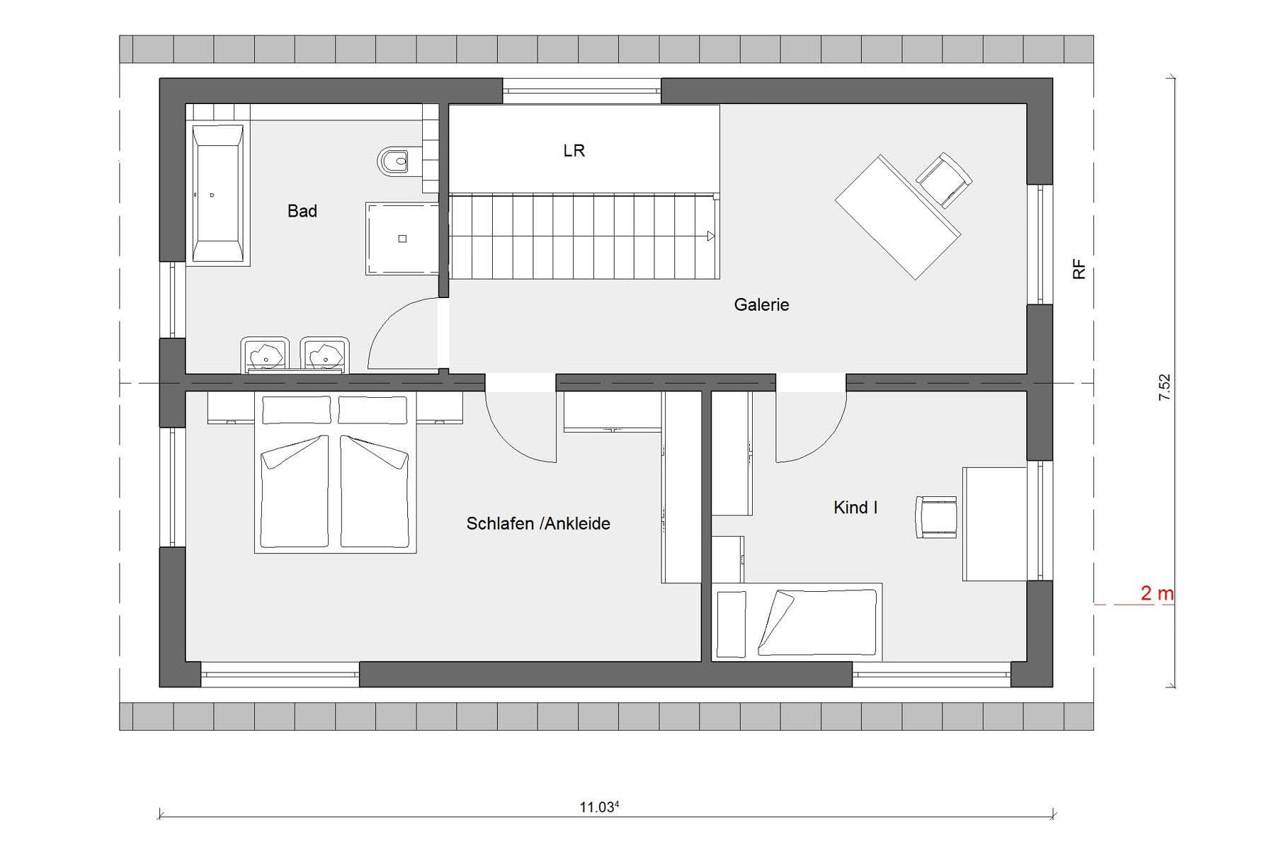 Schmales Fertighaus bauen | E 15-133.3 | SchwörerHaus
