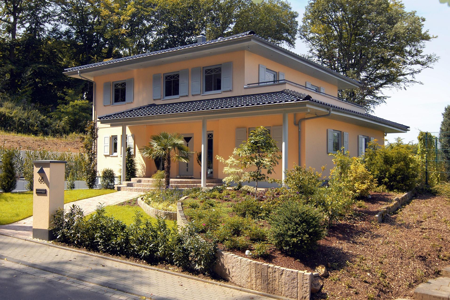 Stadtvilla Landhausstil mediterrane stadtvilla schwörerhaus