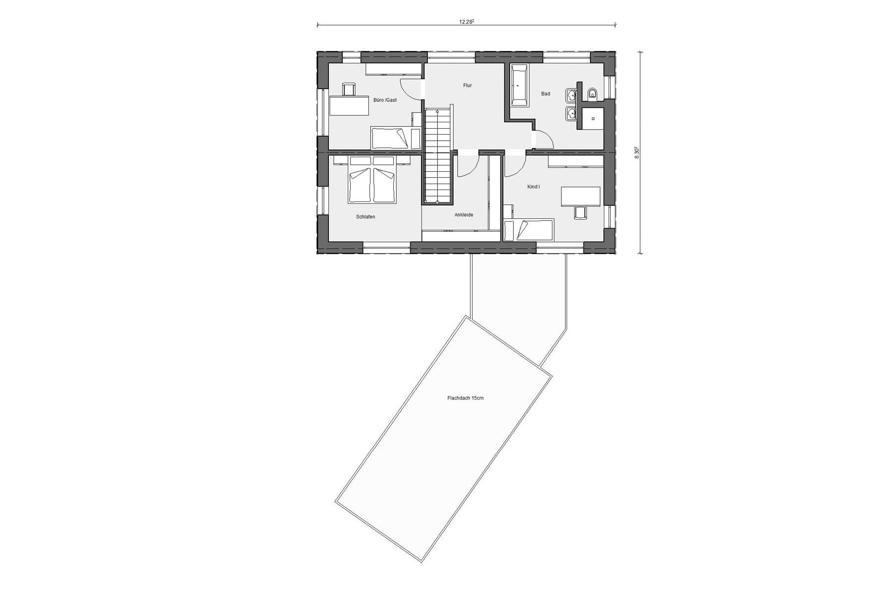 Floor plan attic E 20-161.2 Energy efficiency house