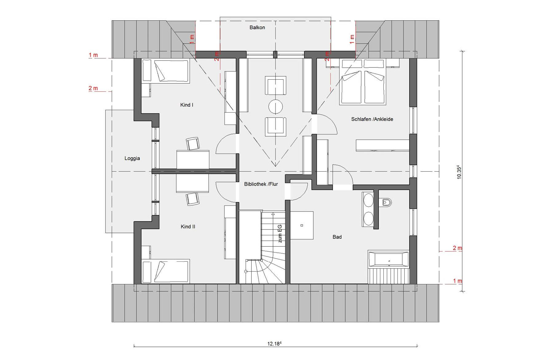 Floor plan attic E 15-205.1 House with conservatory