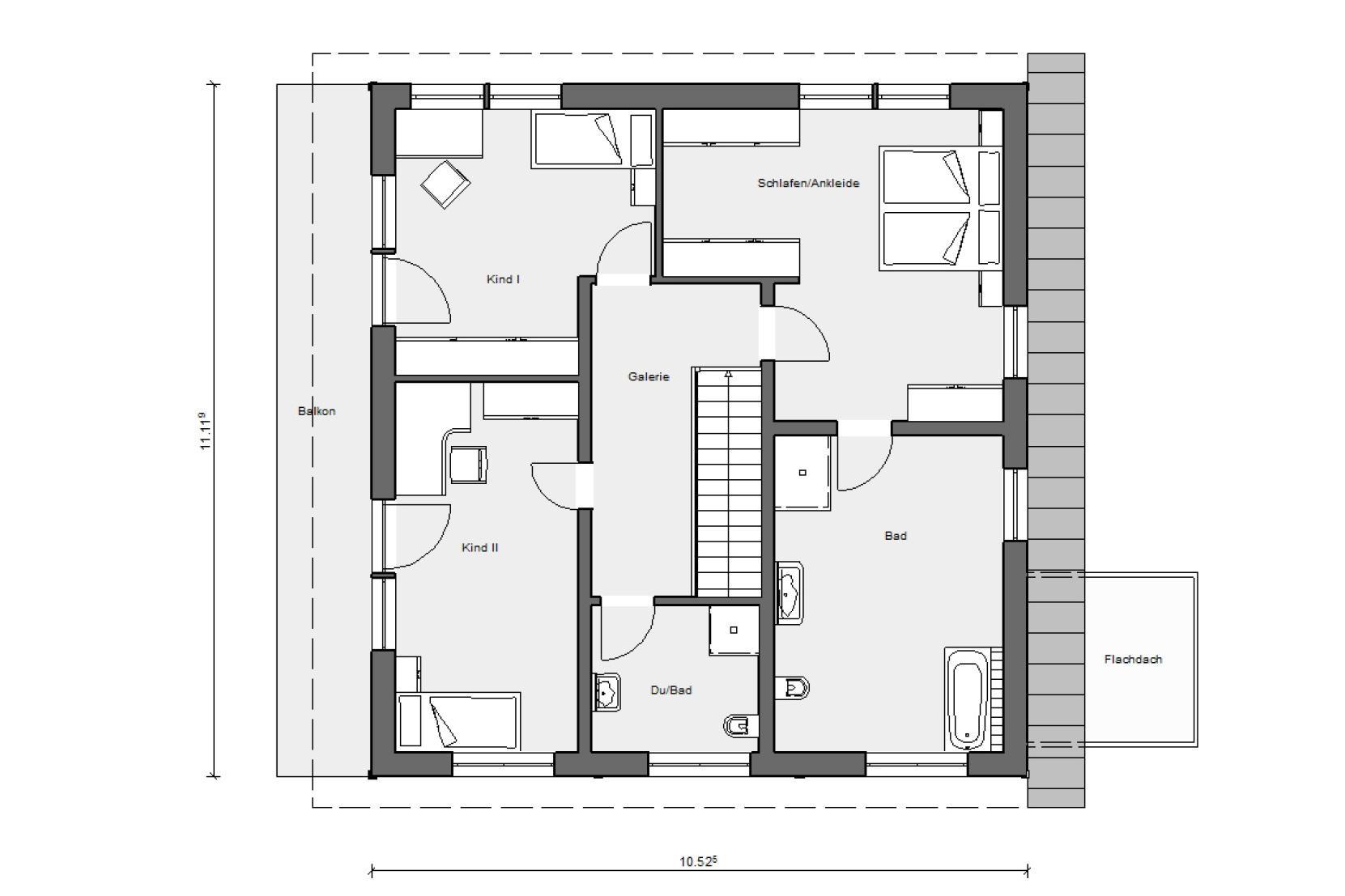 Maison individuelle avec toit une pente schw rerhaus - Maison avec toit une pente ...