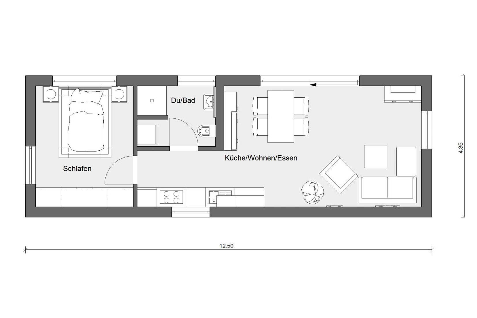 floor plan FlyingSpace holiday homes lake constance F 10-043.6