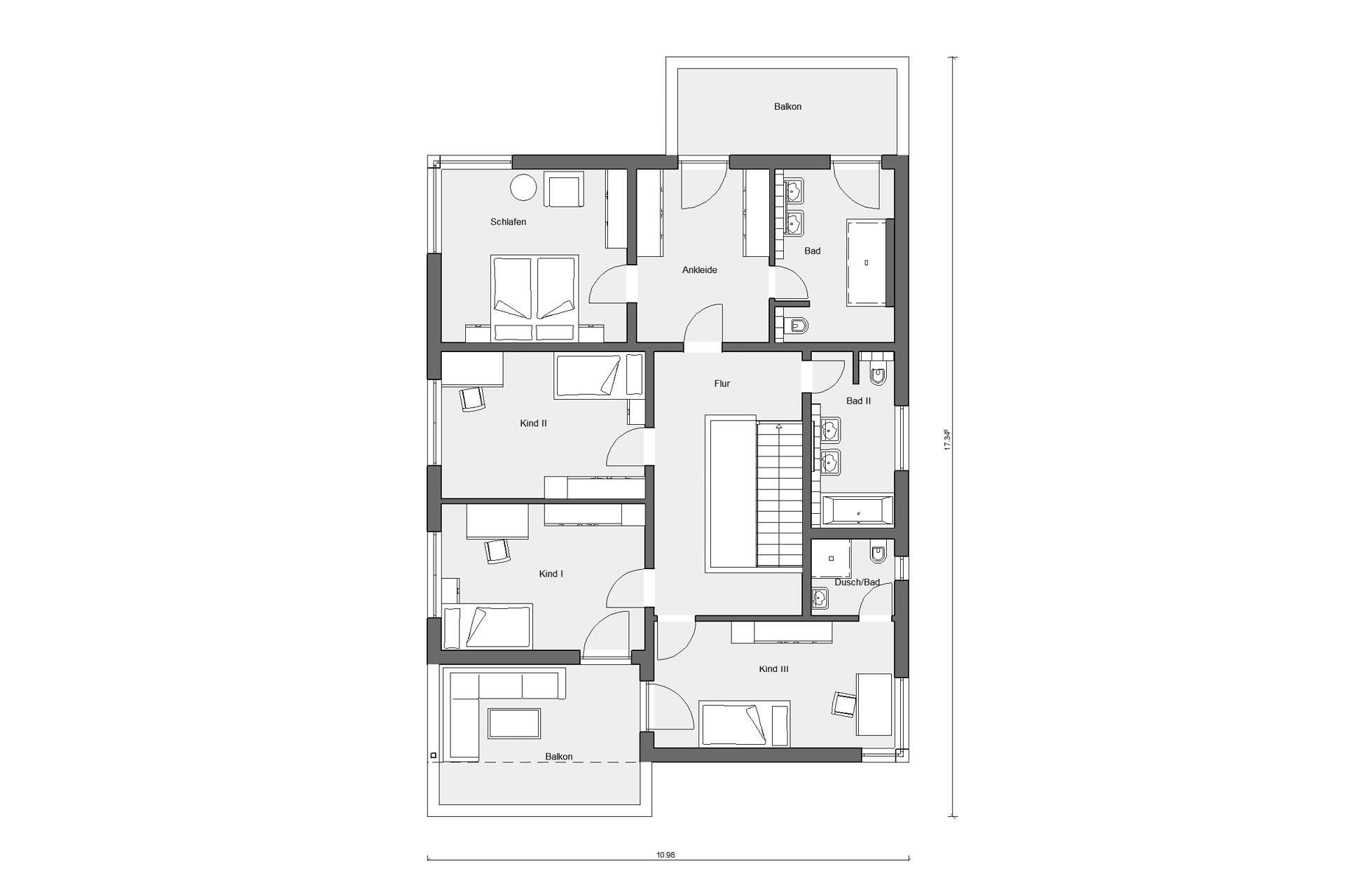 Ground floor attic Detached house Bauhaus style with flat roof E 20-207.1