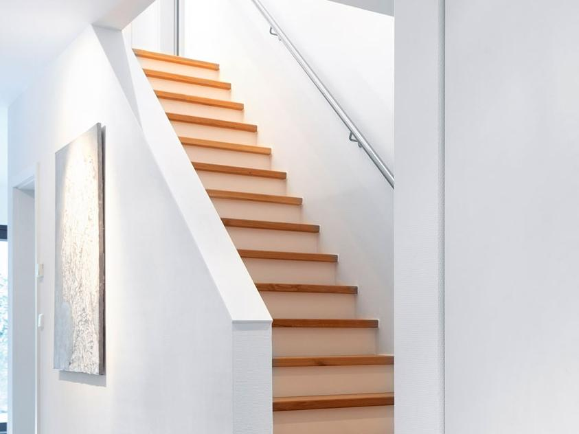 Banister as wall with handrail