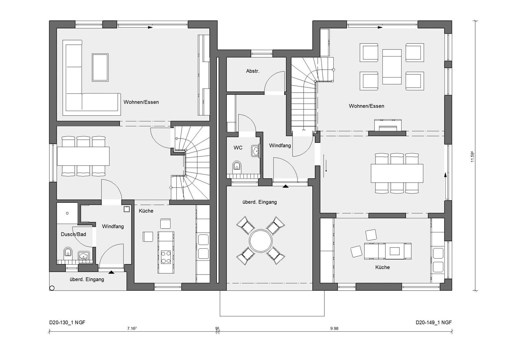 Floor plan ground floor D 20-130.1 / D 20-149.1 penthouse
