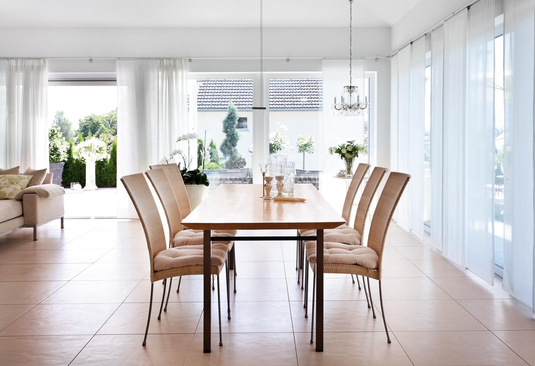 open bright dinning room