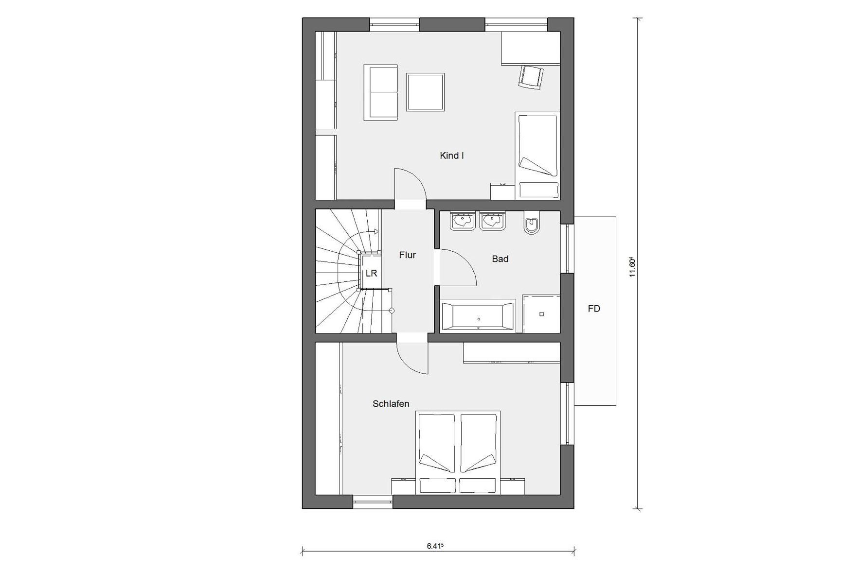 Ground floor first floor D 25-166.2 Semi-detached house with roof terrace
