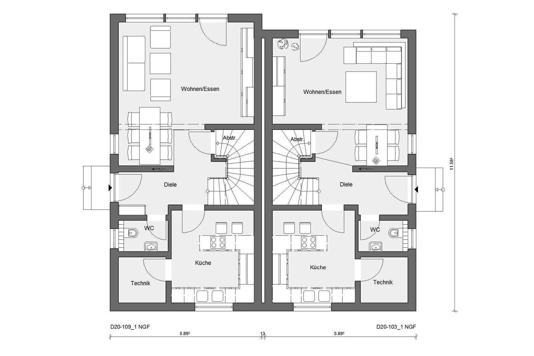 Offset semi-detached house | SchwörerHaus