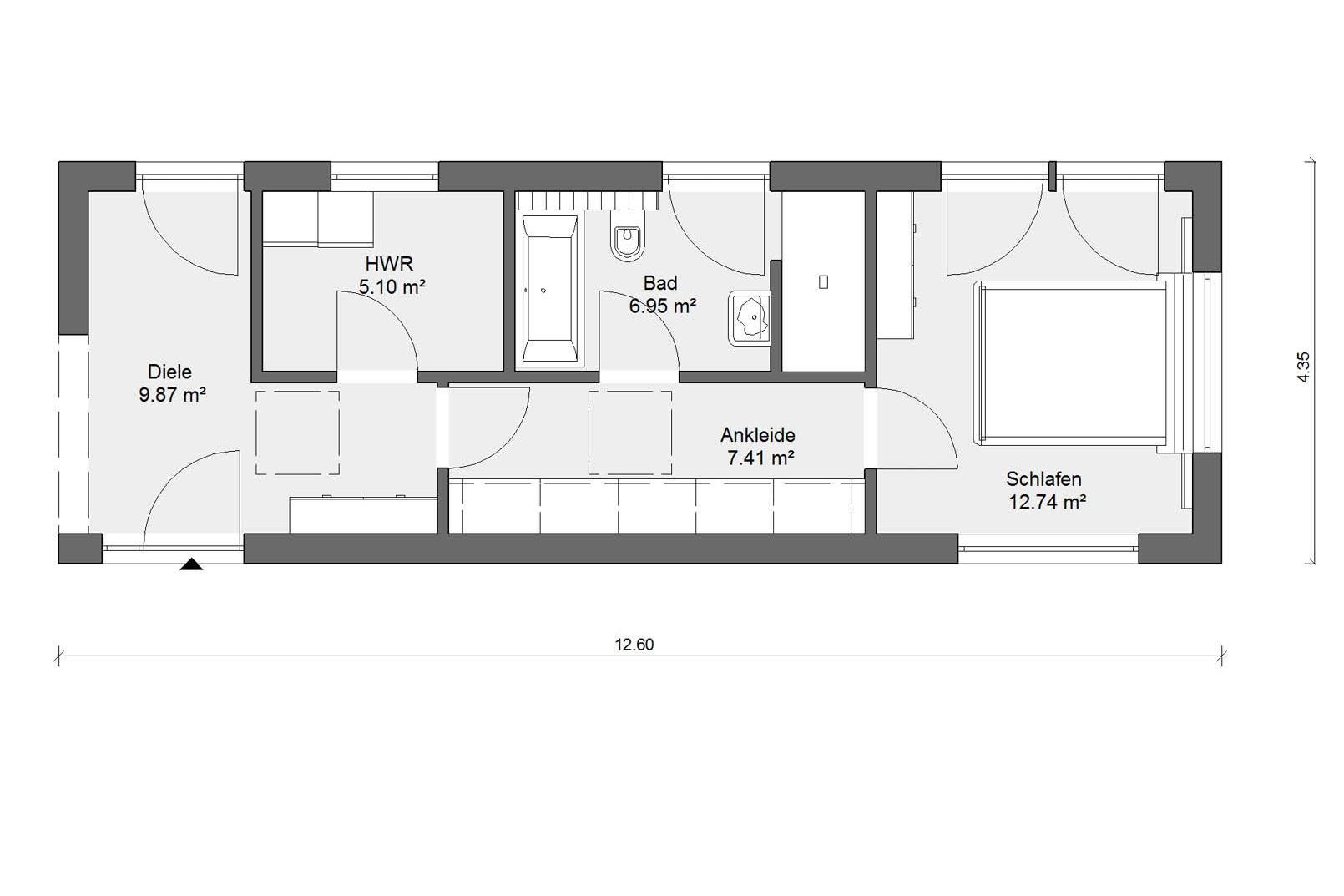 flyingspace en suite parentale schw rerhaus. Black Bedroom Furniture Sets. Home Design Ideas