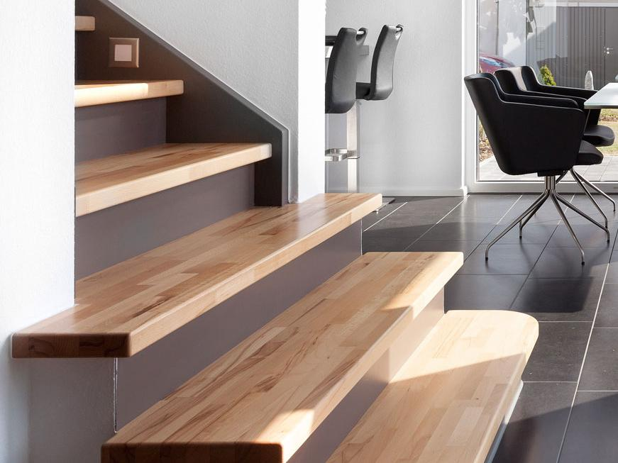 Stair materials - elegant wooden staircase