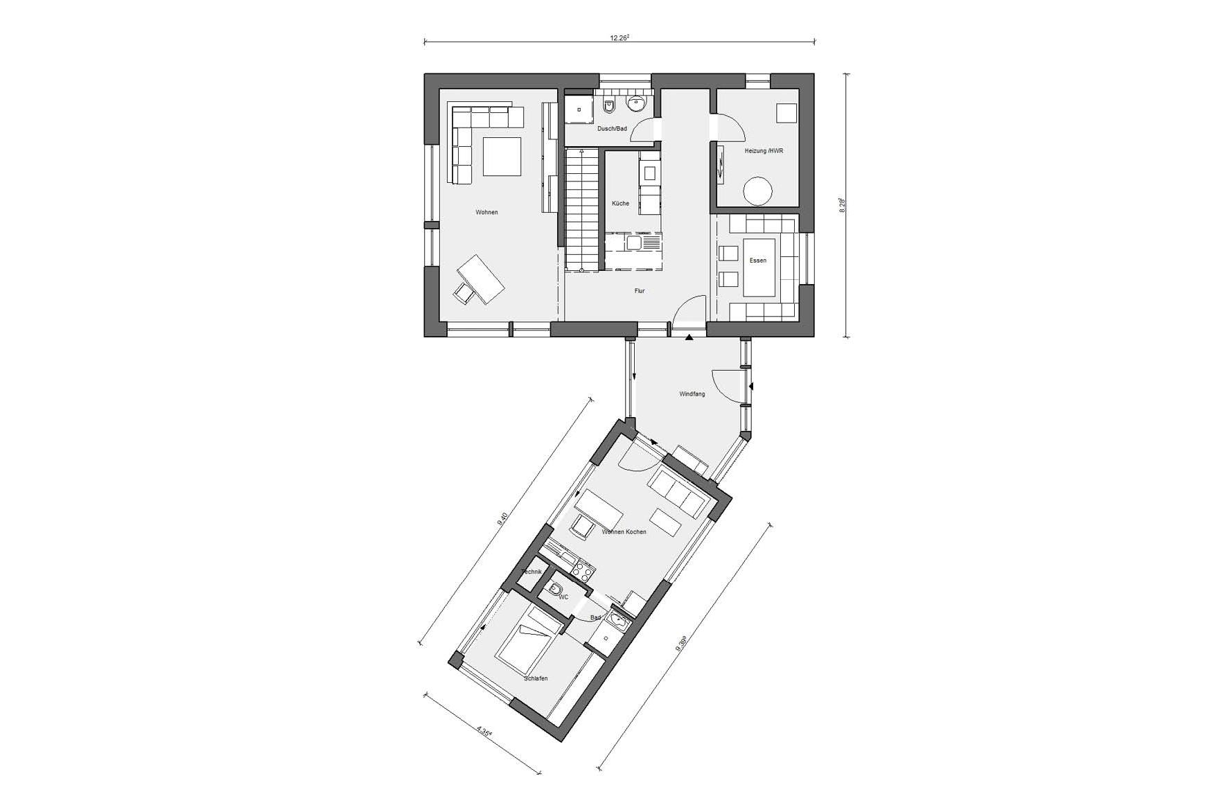 Ground floor plan E 20-161.2 Energy efficiency house