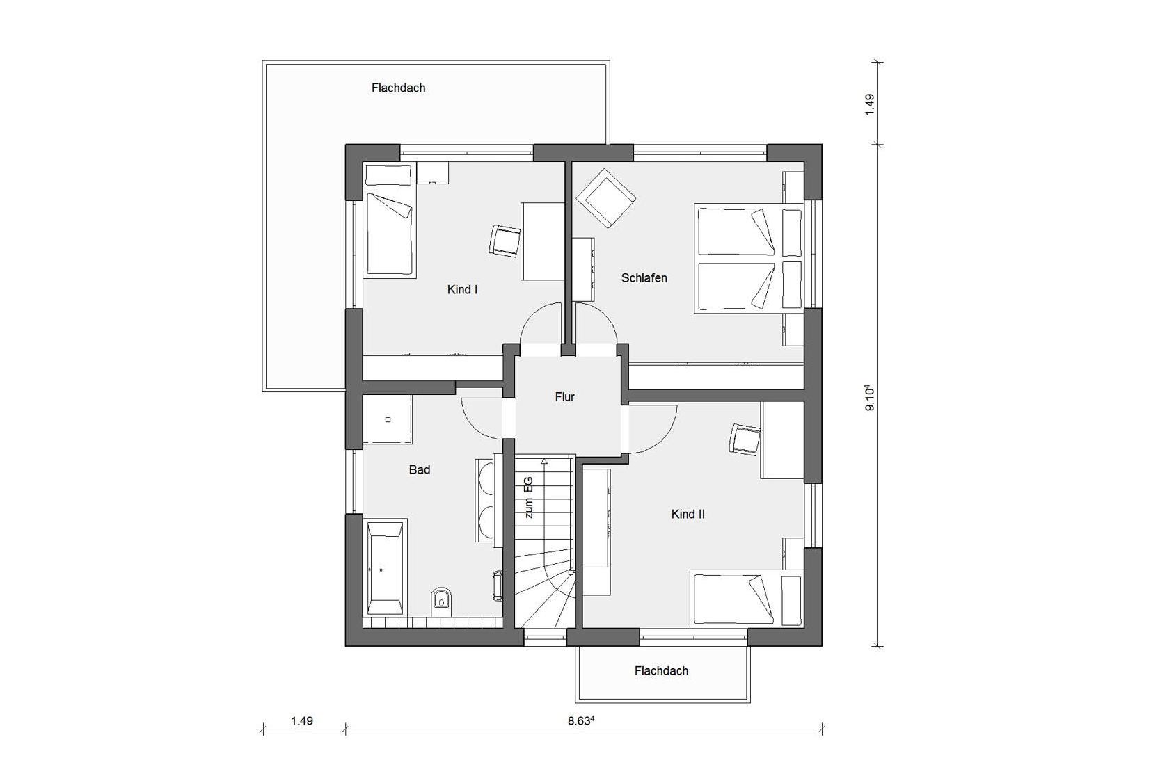 Maison cubique épurée avec annexe moderne | SchwörerHaus