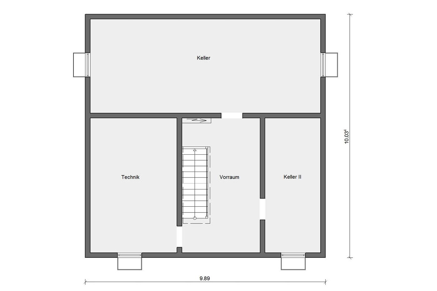 Ground floor basement M-15 178.1 Prefabricated house with granny flat