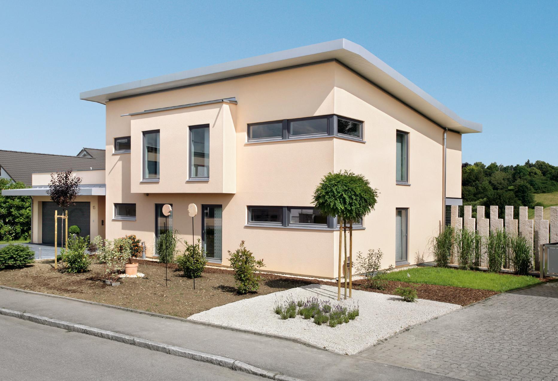 Casa unifamiliare con tetto a z schw rerhaus for Aprire i piani casa artigiano concetto