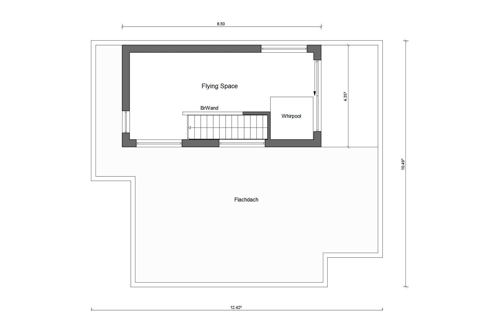 Floor plan attic Kubushaus E 20-191.1