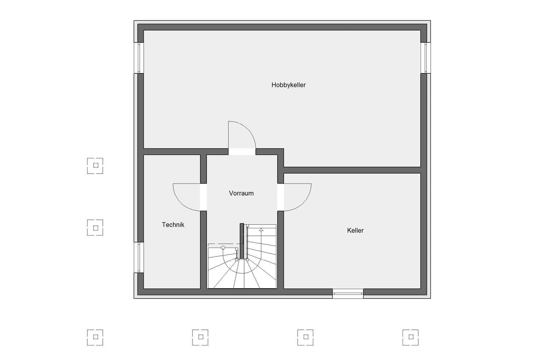 Floor plan basement E 20-144.3 Modern townhouse