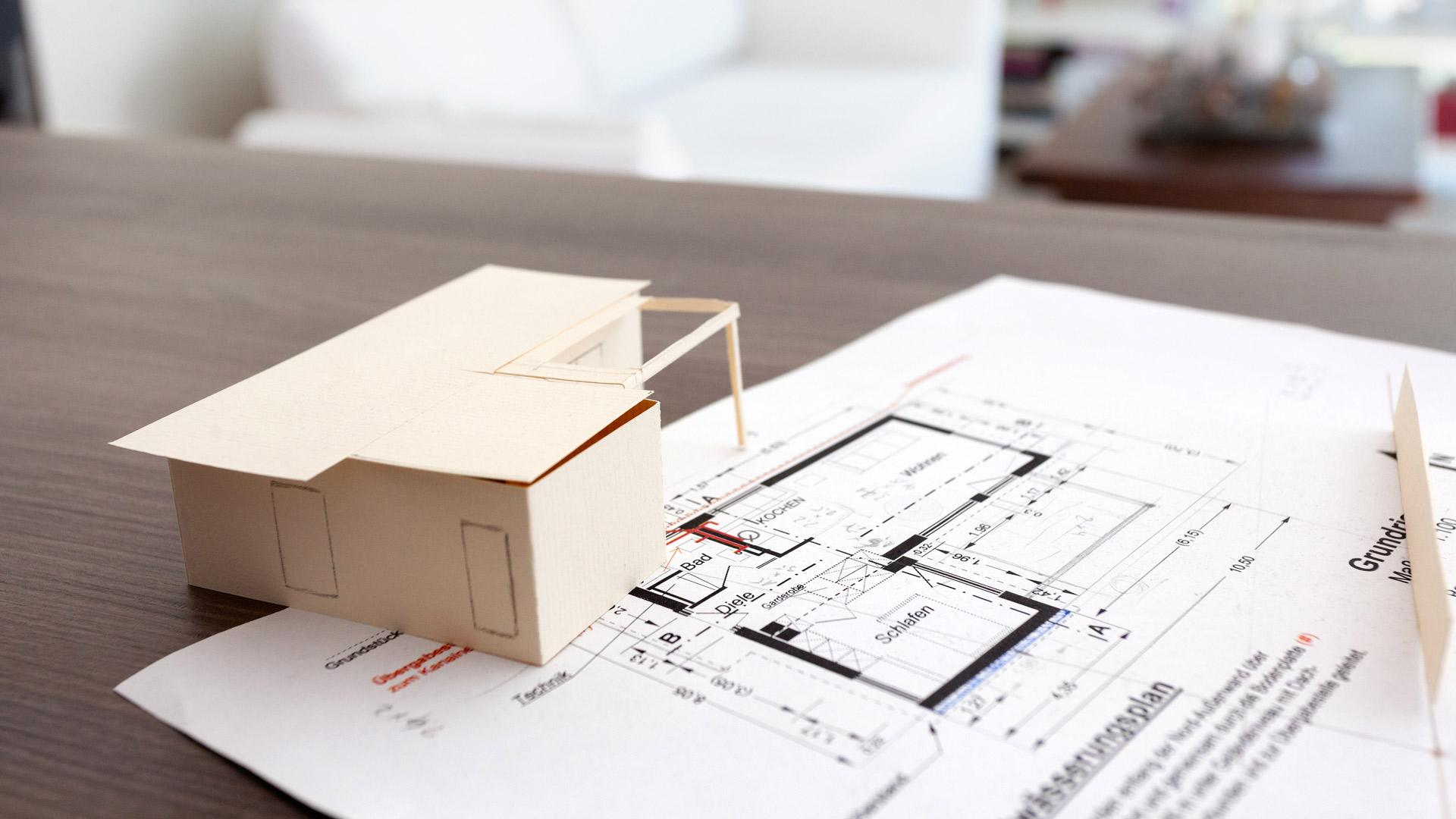 Plan and model FlyingSpace mini house