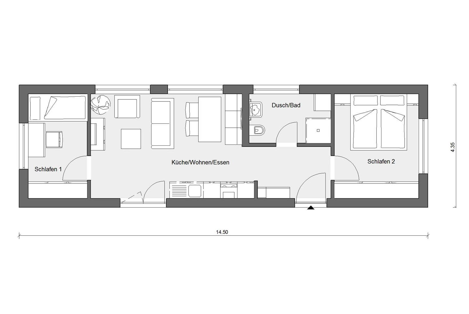 FlyingSpace floor plan holoday unit  F 10-050.5