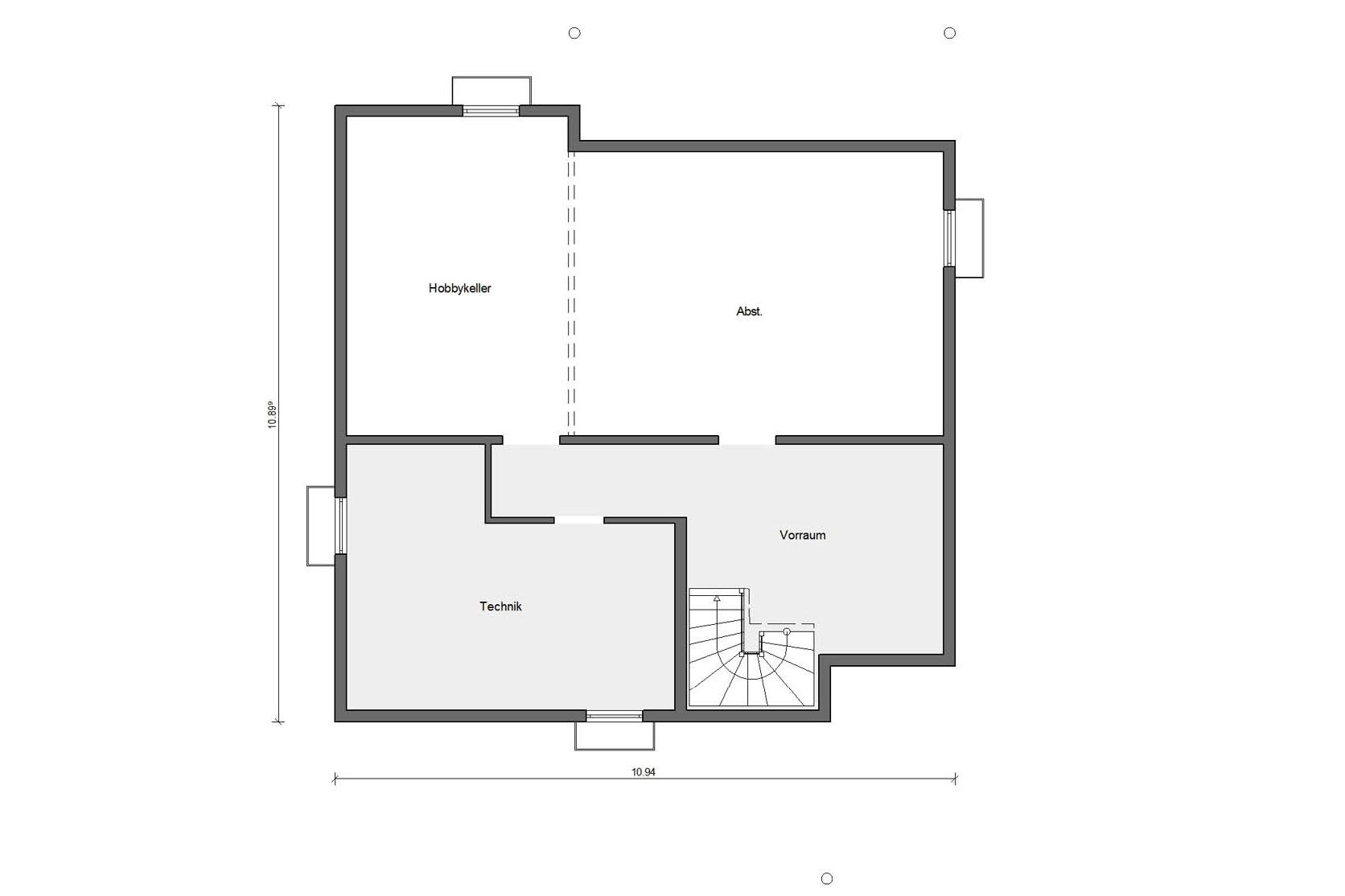 Floor plan basement E 15-205.1 House with conservatory