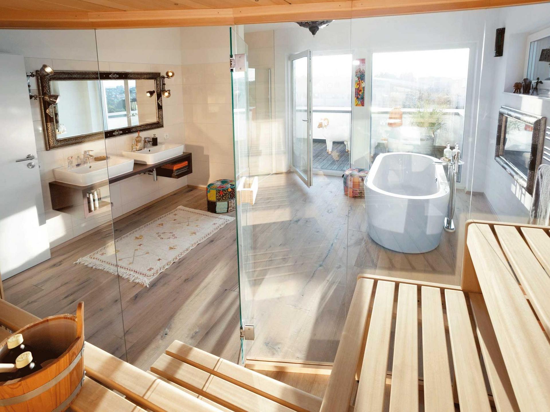 Glamorous Bad Mit Freistehender Badewanne Gallery Of Wellnessbereich Sauna Und