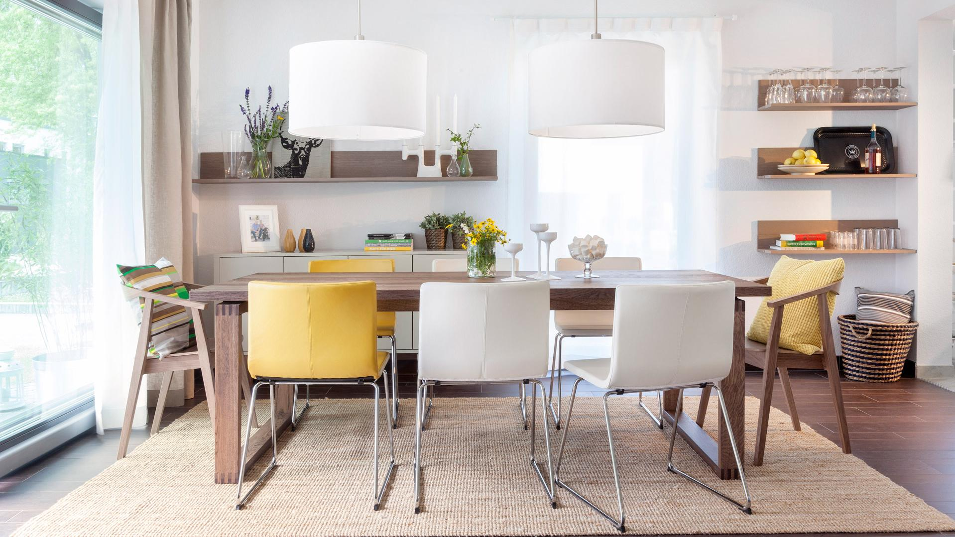 Modern dining room equipped by Ikea