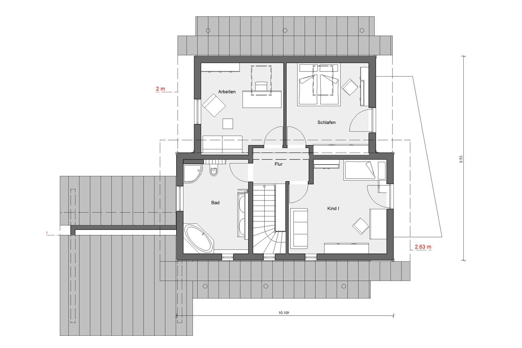 plan de sol d'auvert Young Family Home 1
