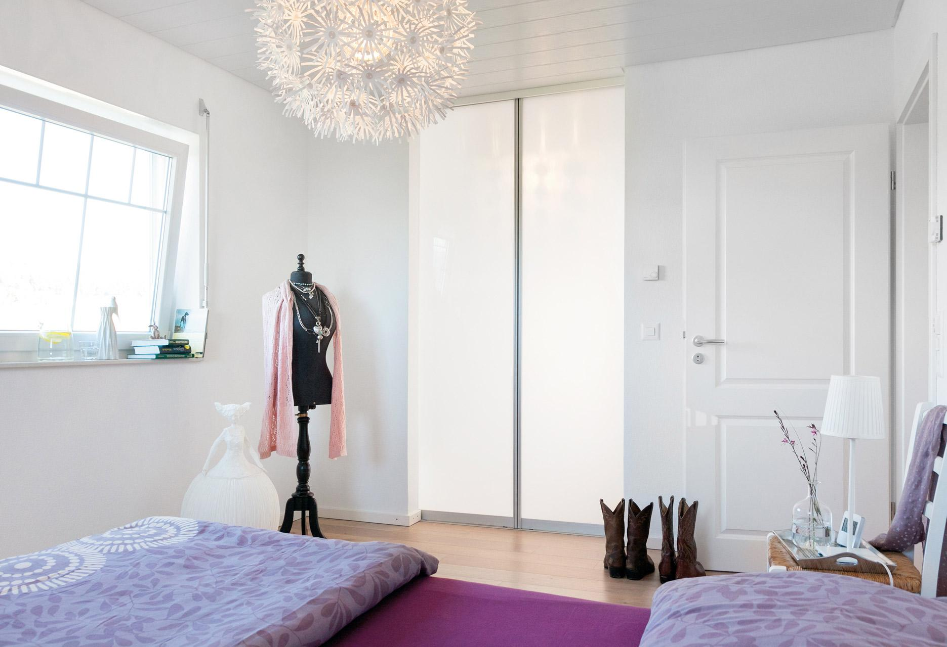 Modern bedroom with dressing room