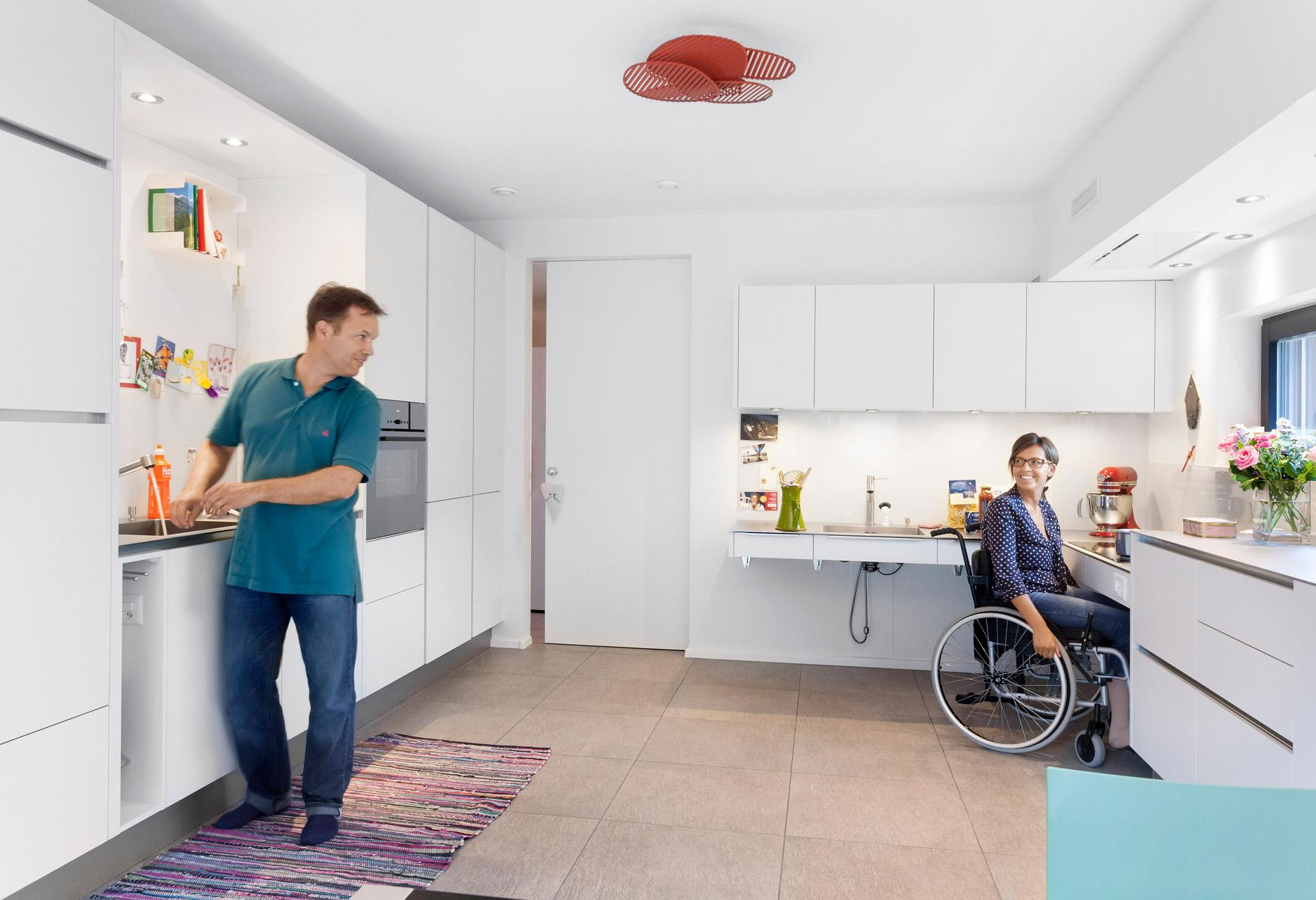 Kitchen wheelchair accessible