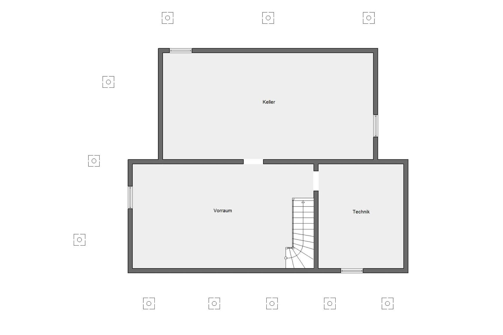 Plan d'étage cave E 15-199.1 Youg Family Home 2