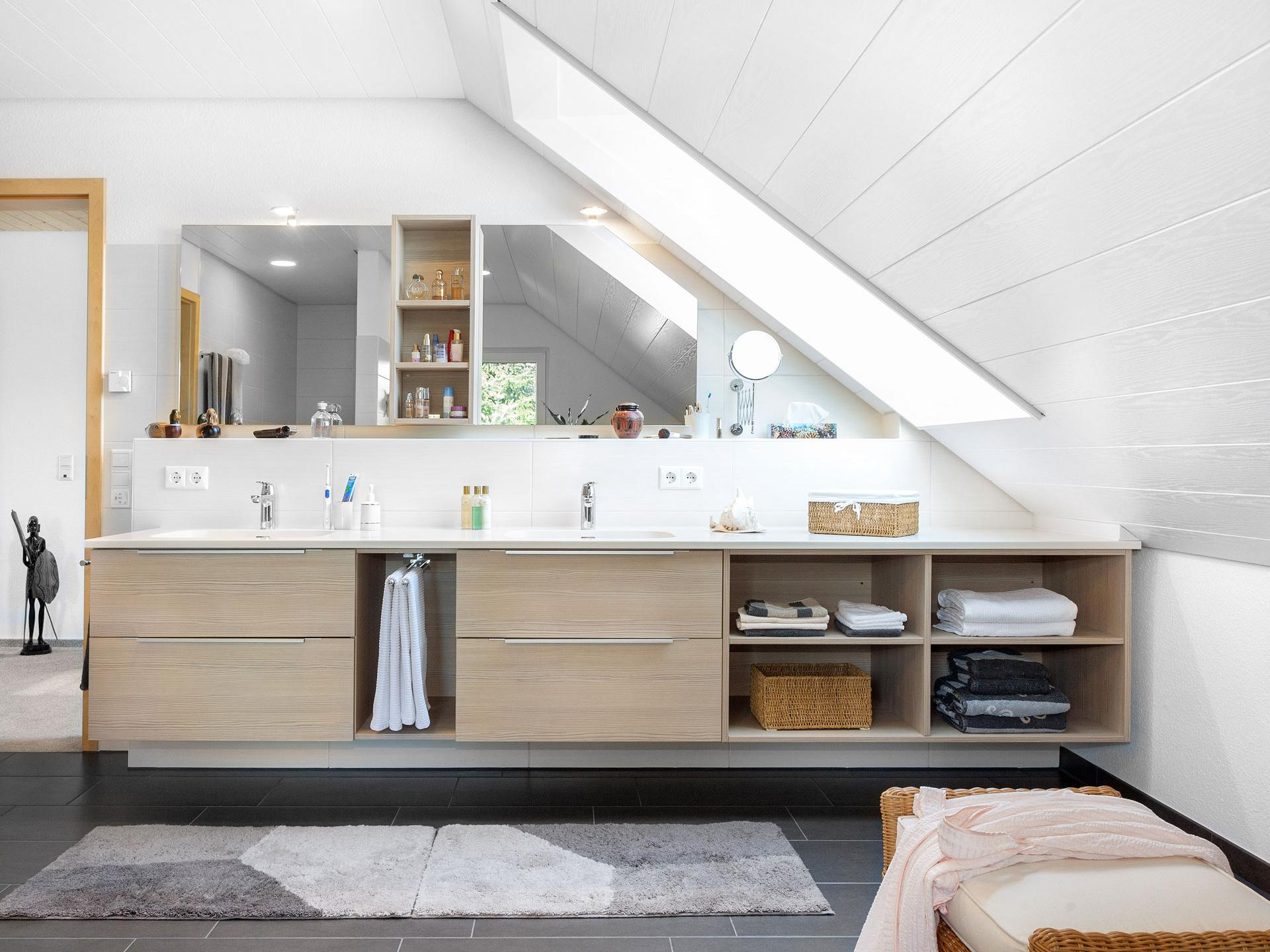 Ideal bathroom furniture solutions for pitched roofs