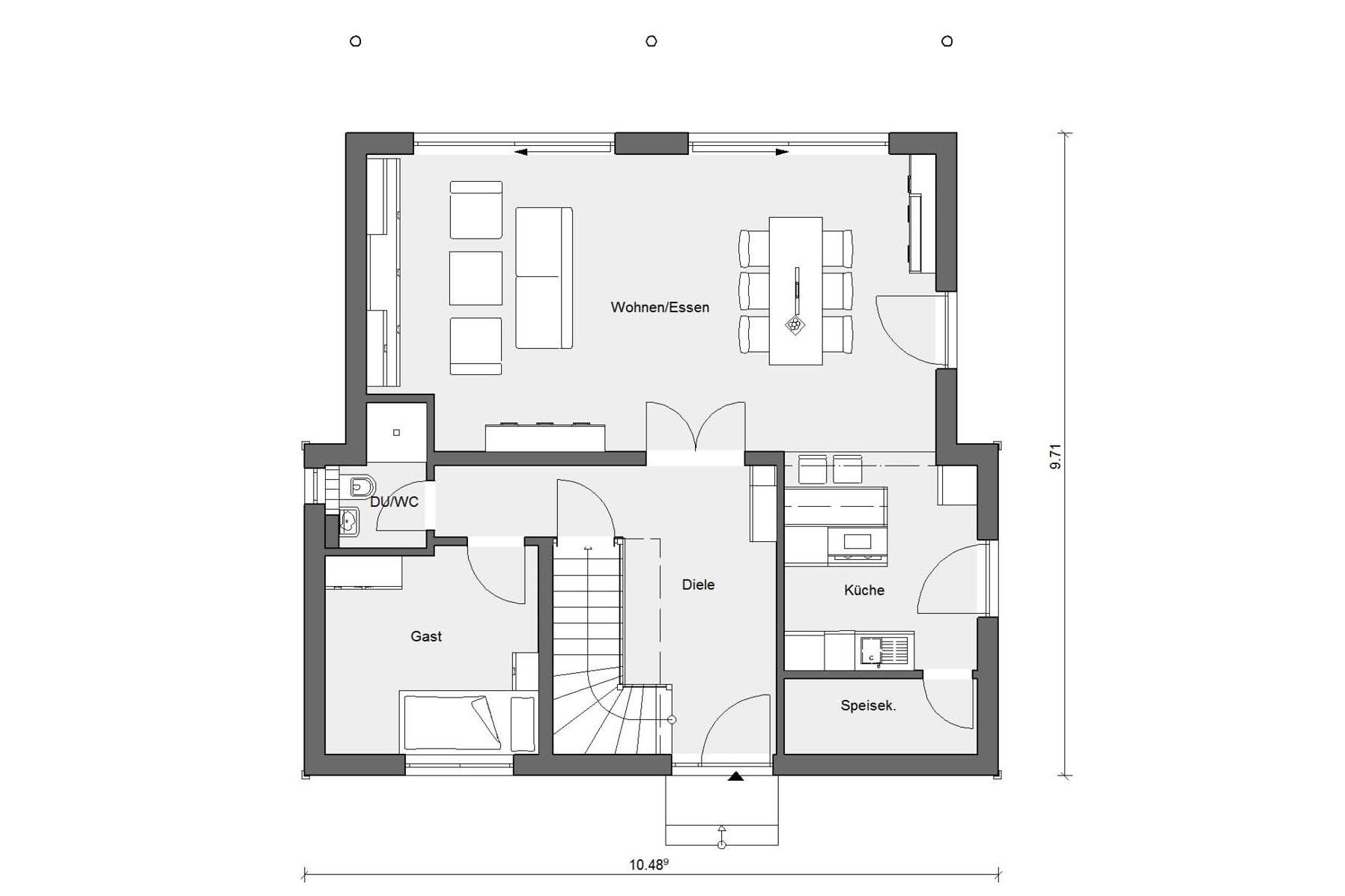 Modernes einfamilienhaus schw rerhaus for Modernes einfamilienhaus grundriss
