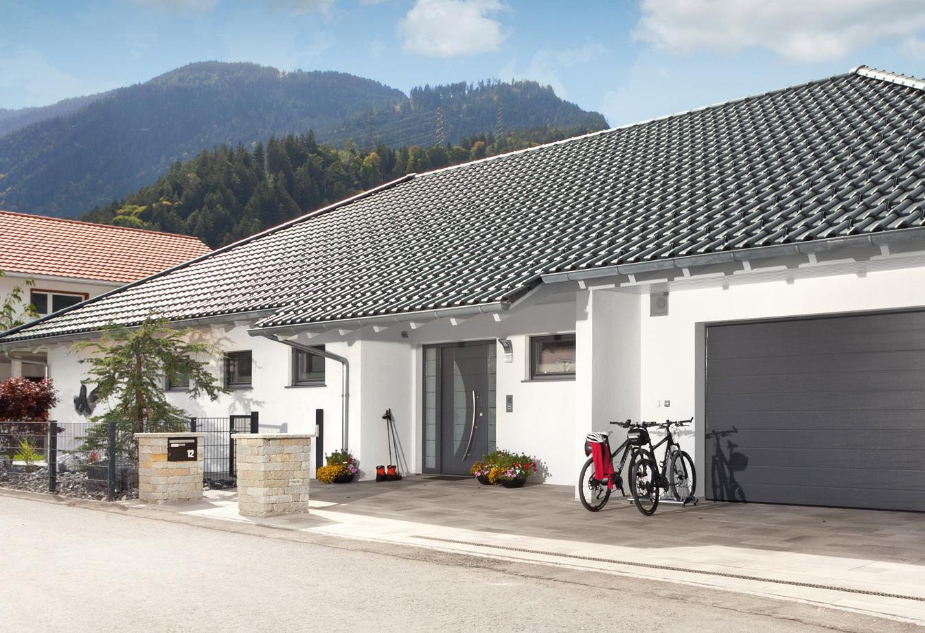 Barrier-free bungalow with double garage