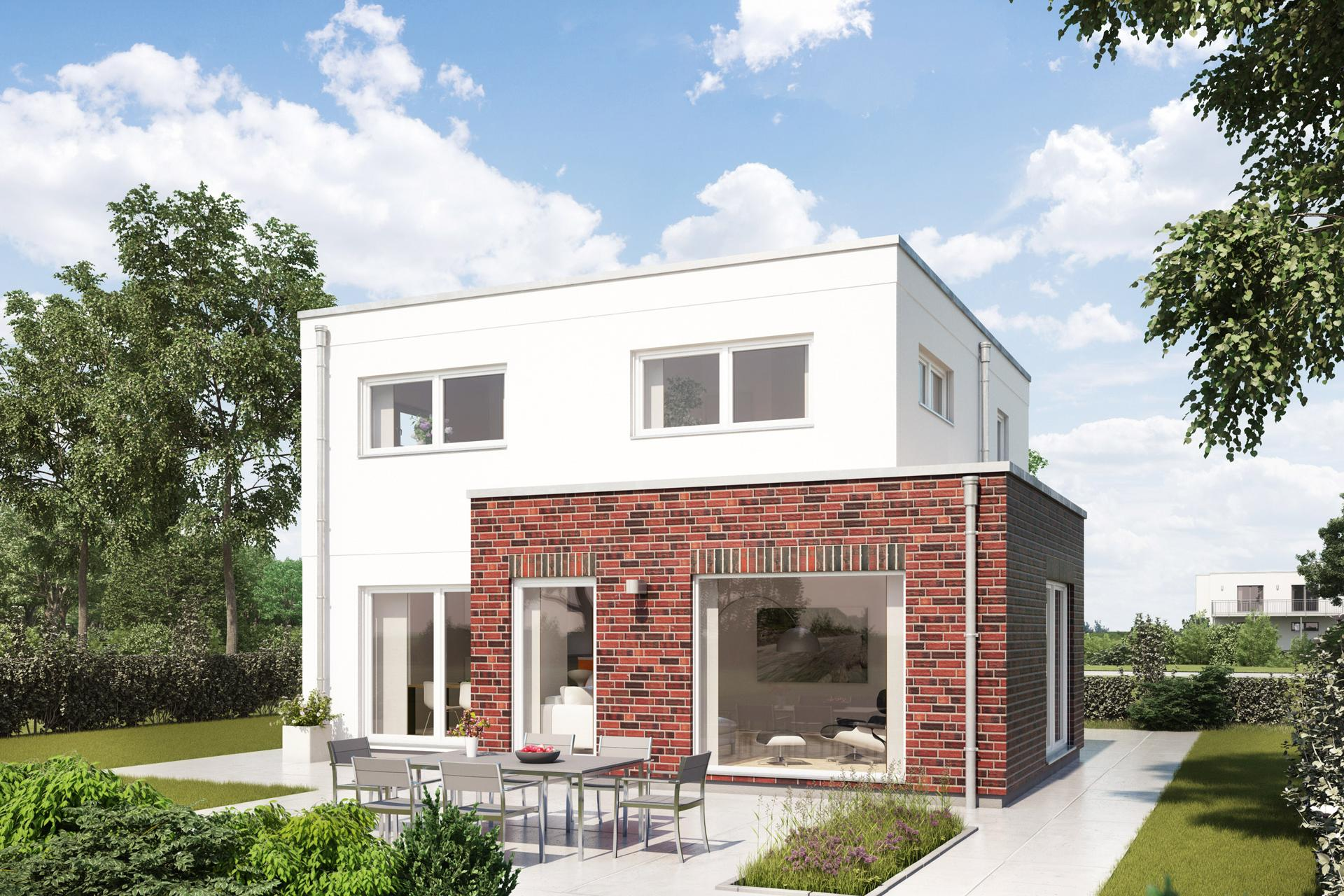fertighaus im bauhausstil schw rerhaus. Black Bedroom Furniture Sets. Home Design Ideas