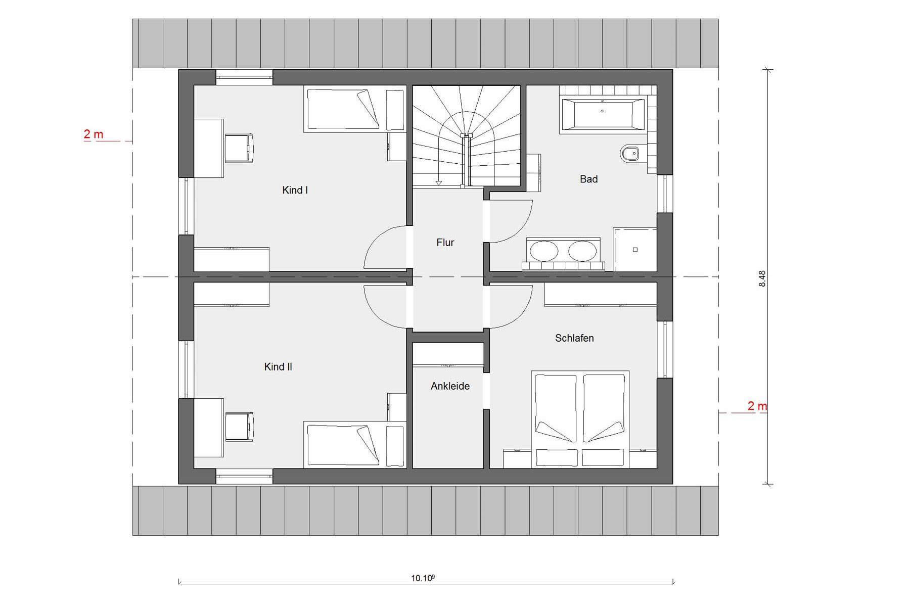 Attic floor plan E 15-140.4 House with office